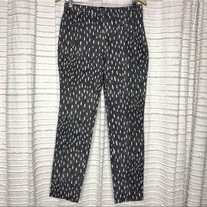 Zara Basic Textured Skinny Dress Pants S Navy